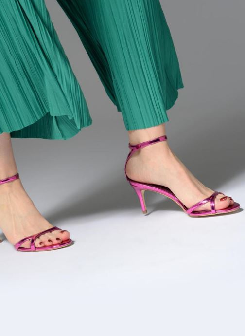 Sandals Guess NYALA Pink view from underneath / model view