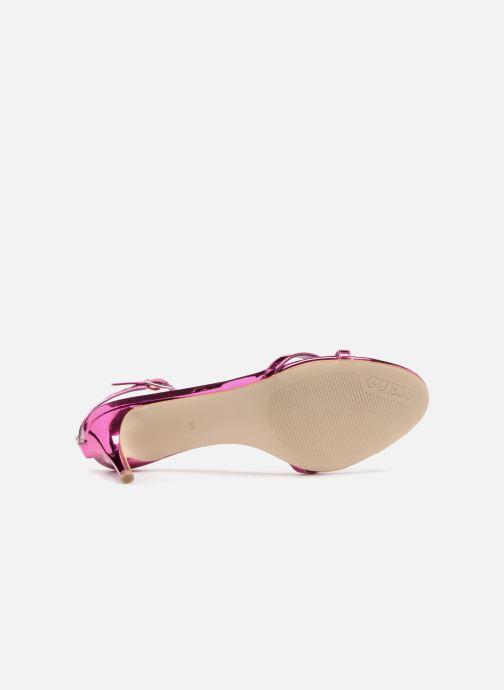 Sandales et nu-pieds Guess NYALA Rose vue haut