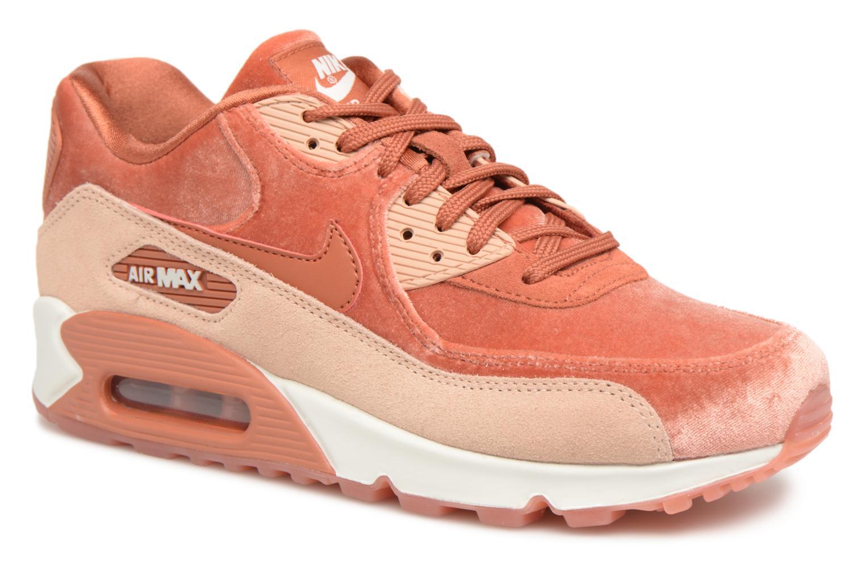 SEK735 Billiga Mänkvinnor Nike Air Max 90 Läder Löparskor