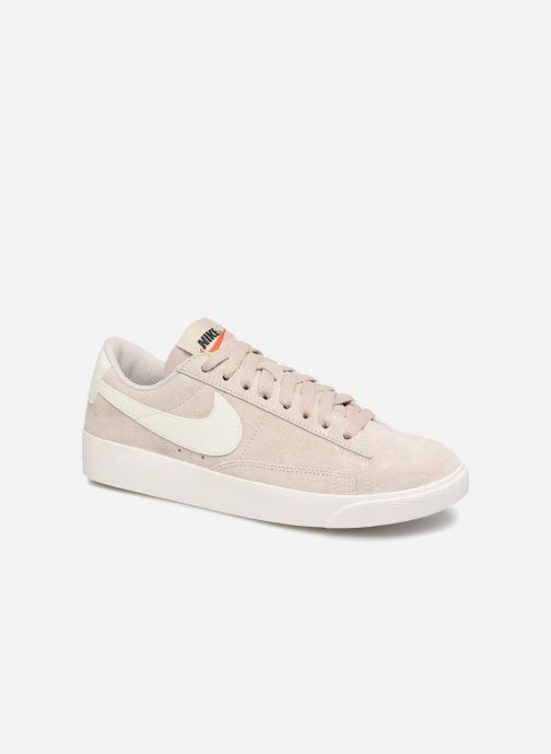 super cute fdda9 430a9 Baskets Nike W Blazer Low Sd Beige vue détail paire