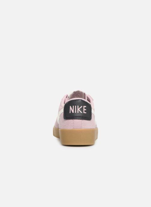 Deportivas Nike W Blazer Low Sd Rosa vista lateral derecha