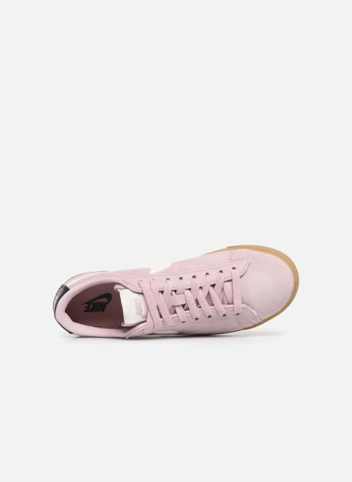 Trainers Nike W Blazer Low Sd Pink view from the left