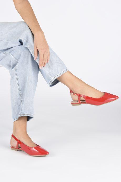 Ballerines I Love Shoes Belona Rouge vue bas / vue portée sac