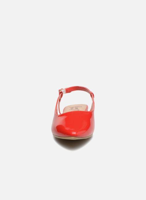 Ballerines I Love Shoes Belona Rouge vue portées chaussures