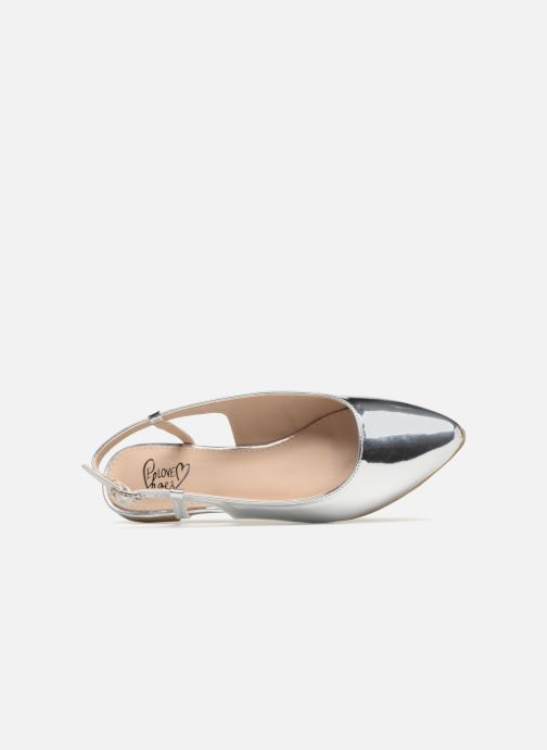 Bailarinas I Love Shoes Belona Plateado vista lateral izquierda