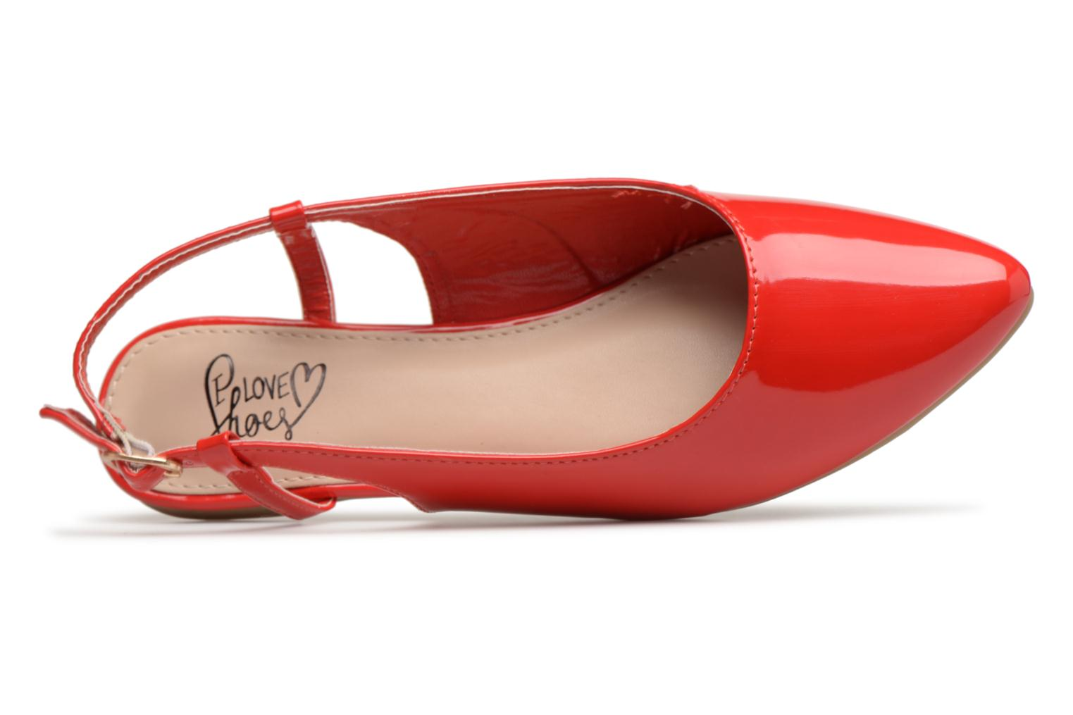 Ballerines I Love Shoes Belona Rouge vue gauche