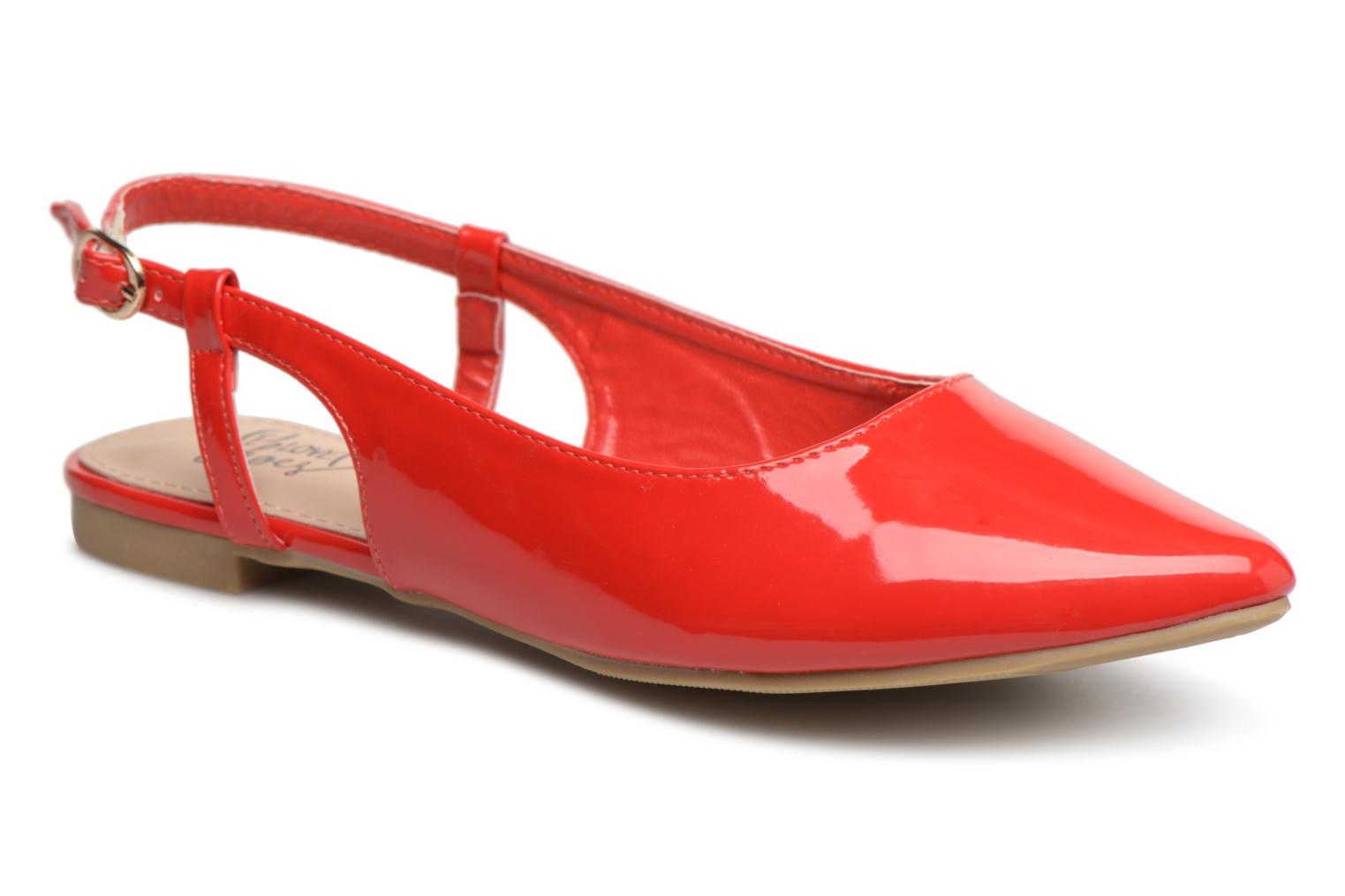 Ballerines I Love Shoes Belona Rouge vue détail/paire