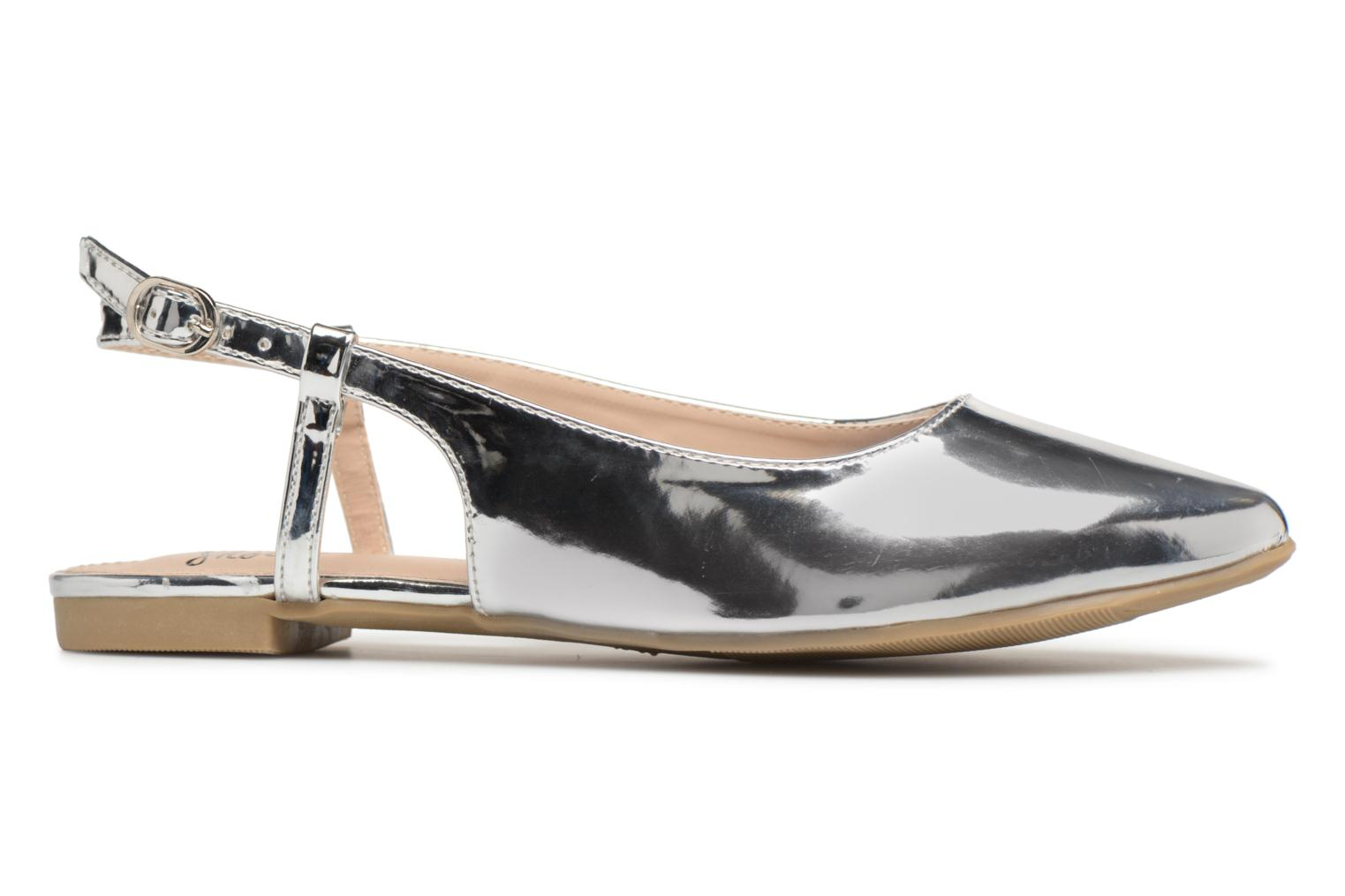 Ballet pumps I Love Shoes Belona Silver back view