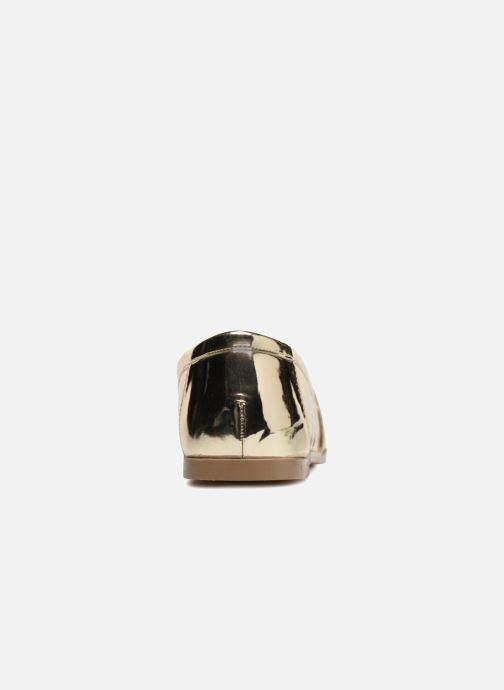Mocassins I Love Shoes Bepola Or et bronze vue droite