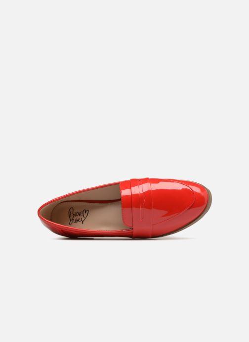 Mocasines I Love Shoes Bepola Rojo vista lateral izquierda