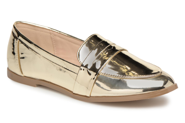 Mocassins I Love Shoes Bepola Or et bronze vue détail/paire