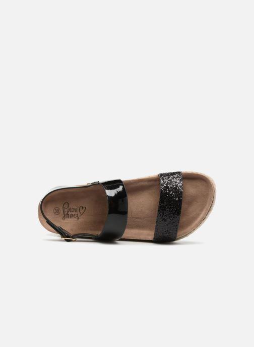 Sandalias I Love Shoes Benino Negro vista lateral izquierda