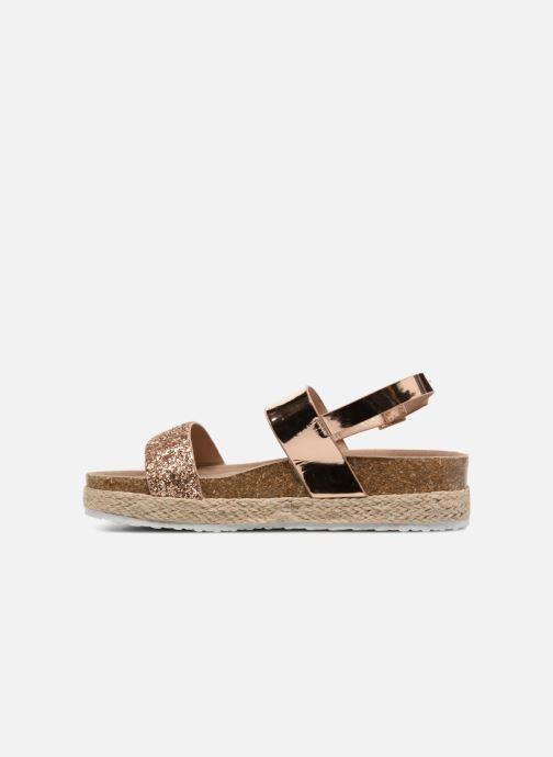 Sandales et nu-pieds I Love Shoes Benino Or et bronze vue face