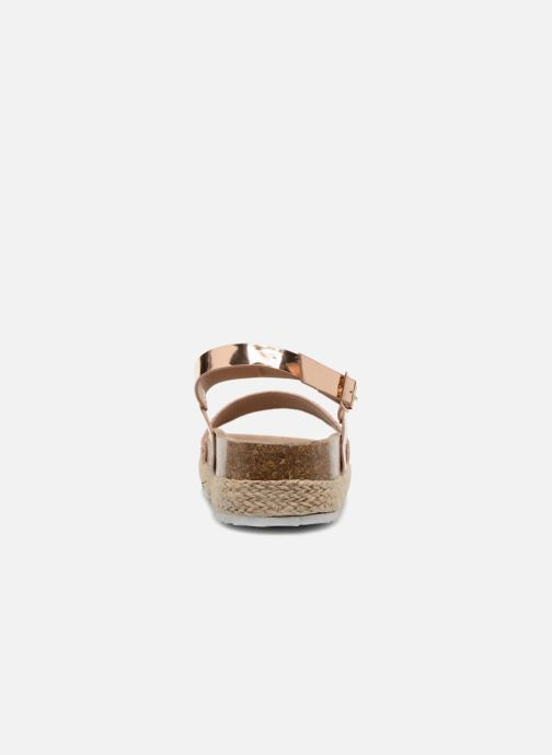 Sandales et nu-pieds I Love Shoes Benino Or et bronze vue droite