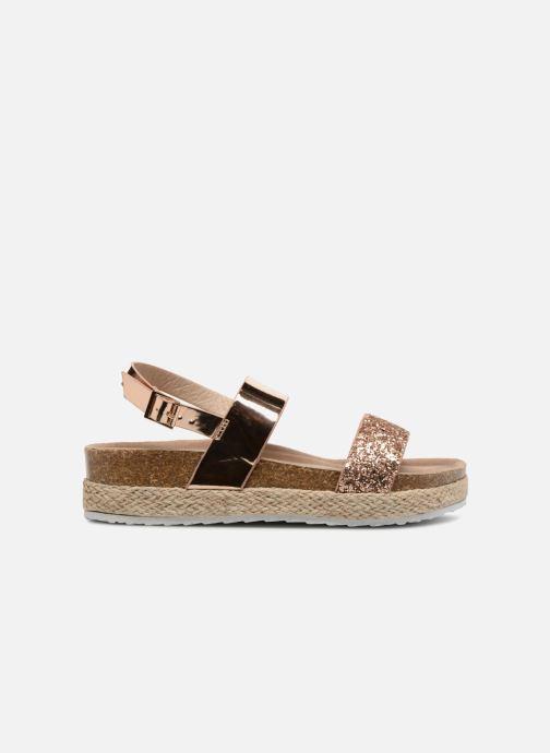 Sandales et nu-pieds I Love Shoes Benino Or et bronze vue derrière