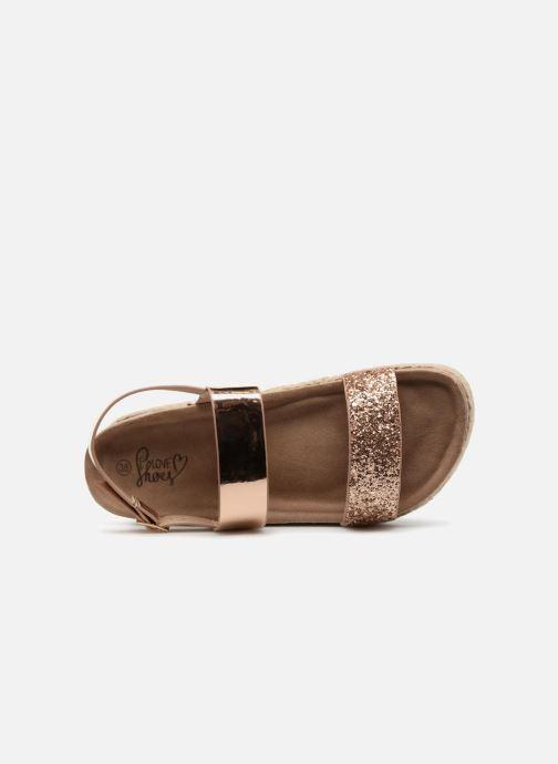 Sandales et nu-pieds I Love Shoes Benino Or et bronze vue gauche