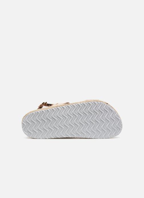 Sandales et nu-pieds I Love Shoes Benino Or et bronze vue haut