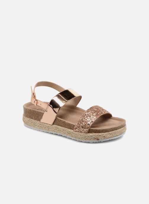 Sandales et nu-pieds I Love Shoes Benino Or et bronze vue détail/paire