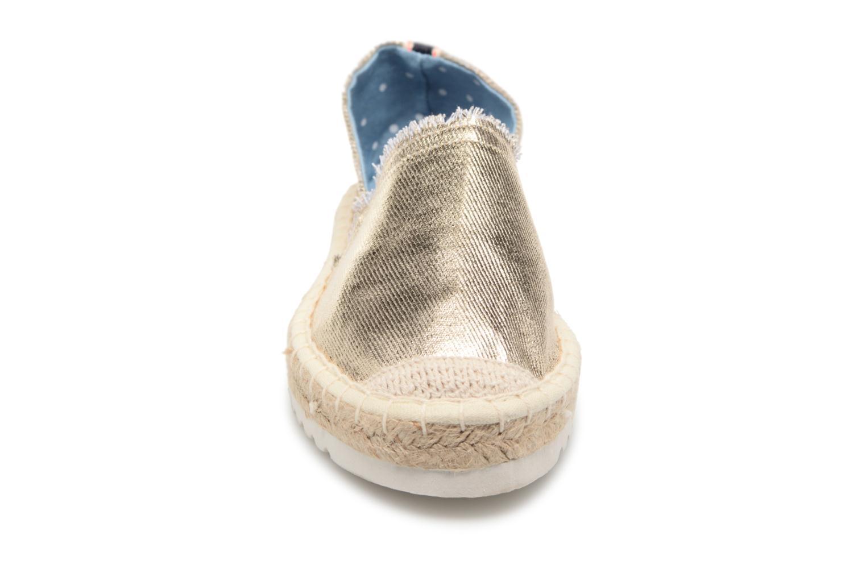 Espadrilles I Love Shoes Beyoni Or et bronze vue portées chaussures