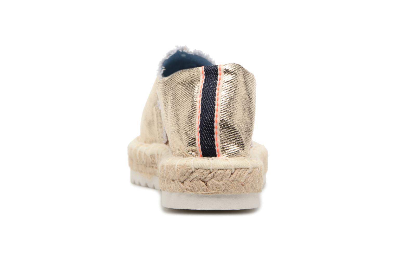 Espadrilles I Love Shoes Beyoni Or et bronze vue droite