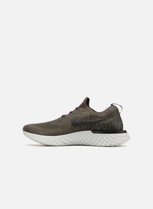 Sportschuhe Nike Nike Epic React Flyknit grün ansicht von vorne