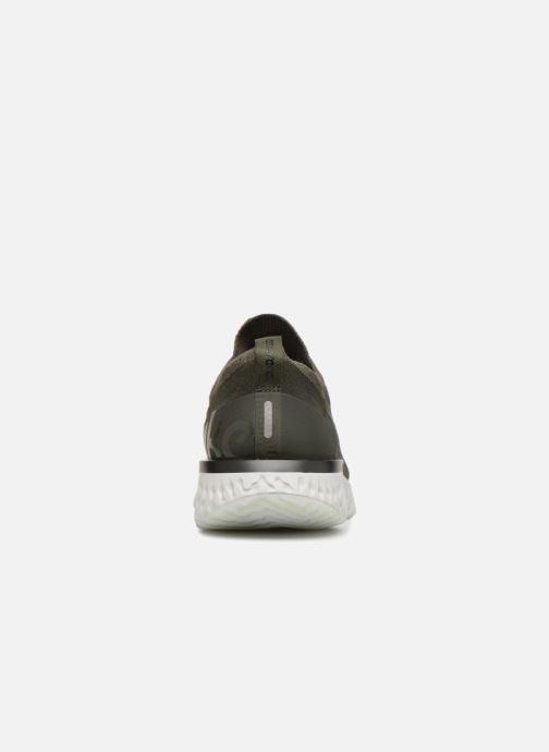 Sportschuhe Nike Nike Epic React Flyknit grün ansicht von rechts