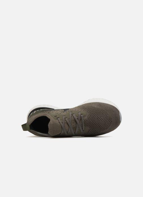 Sportschuhe Nike Nike Epic React Flyknit grün ansicht von links