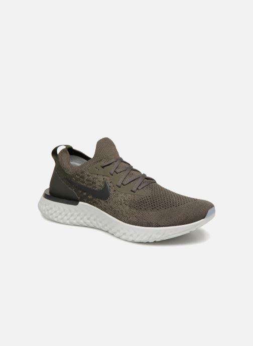 super popular ac7c4 df877 Chaussures de sport Nike Nike Epic React Flyknit Vert vue détail paire