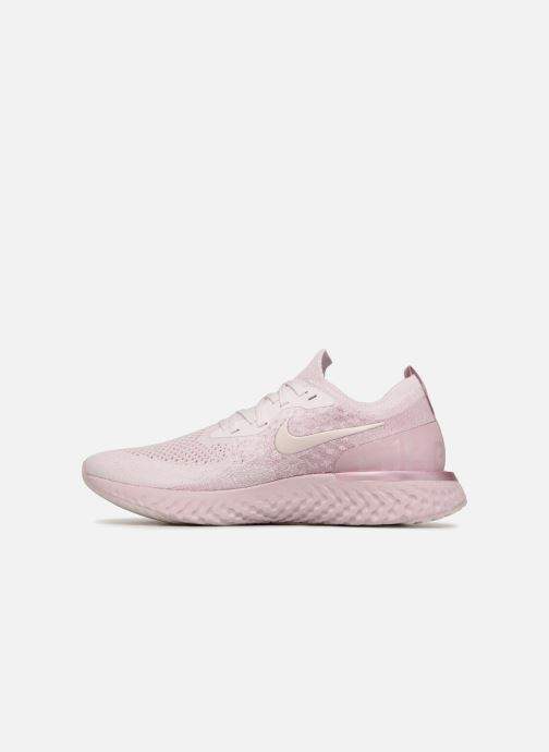Chaussures de sport Nike Nike Epic React Flyknit Rose vue face