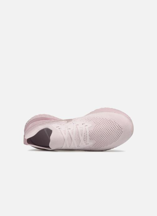 Chaussures de sport Nike Nike Epic React Flyknit Rose vue gauche