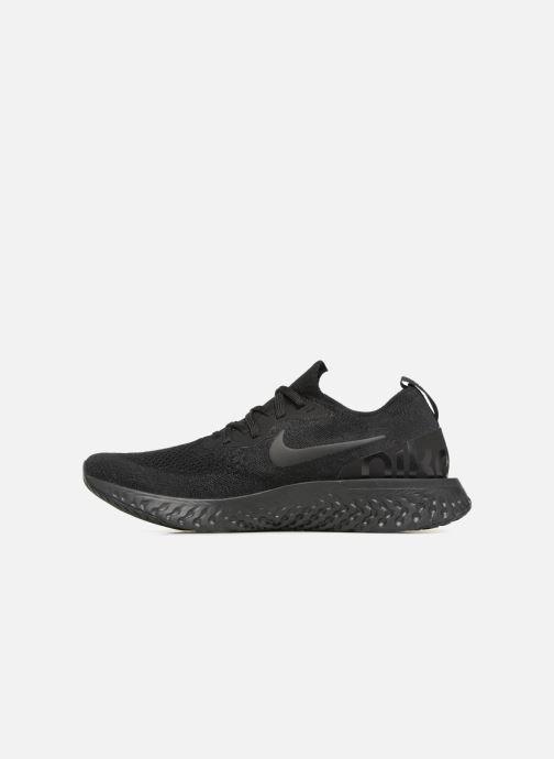Sportschuhe Nike Nike Epic React Flyknit schwarz ansicht von vorne