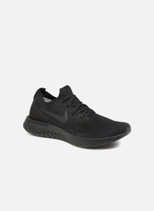 Chaussures de sport Nike Nike Epic React Flyknit Noir vue détail/paire