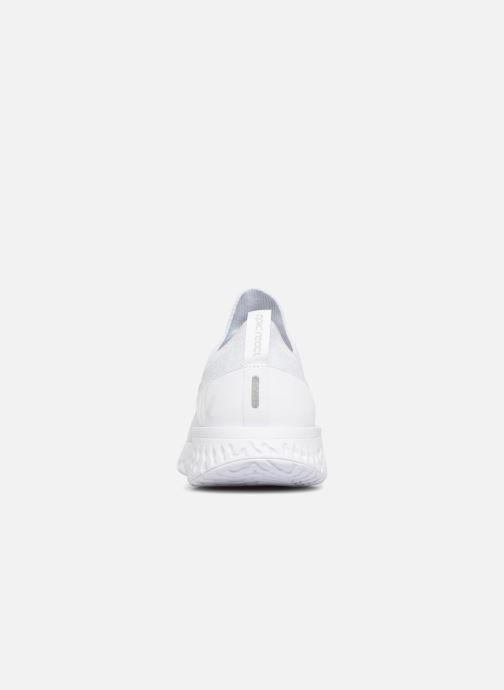 Sportschuhe Nike Nike Epic React Flyknit weiß ansicht von rechts