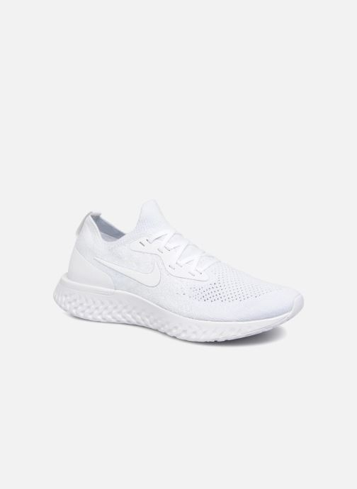 info for 66ef5 0166a Chaussures de sport Nike Nike Epic React Flyknit Blanc vue détail paire