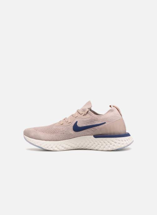 Chaussures de sport Nike Nike Epic React Flyknit Beige vue face