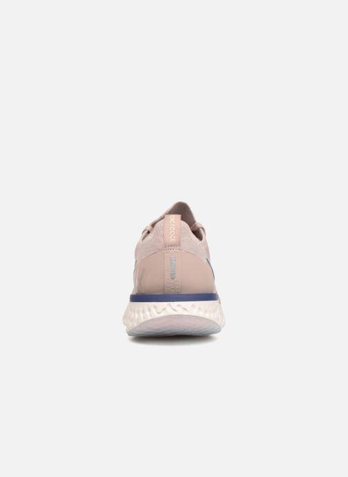 Sportschuhe Nike Nike Epic React Flyknit beige ansicht von rechts