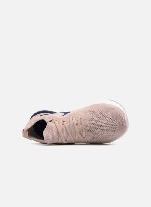 Chaussures de sport Nike Nike Epic React Flyknit Beige vue gauche