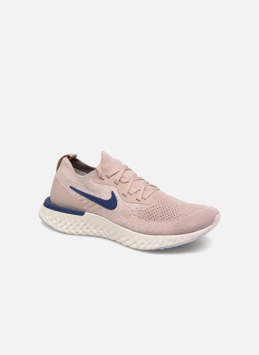 Chaussures de sport Nike Nike Epic React Flyknit Beige vue détail/paire