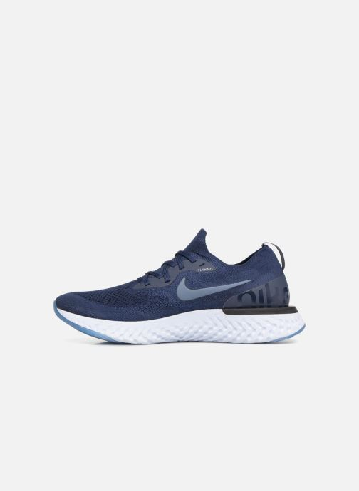 Sport shoes Nike Nike Epic React Flyknit Blue front view