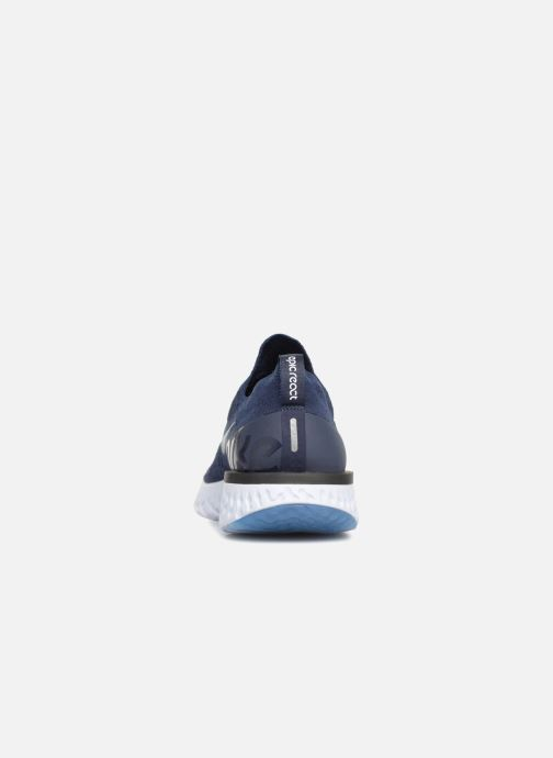 Sport shoes Nike Nike Epic React Flyknit Blue view from the right