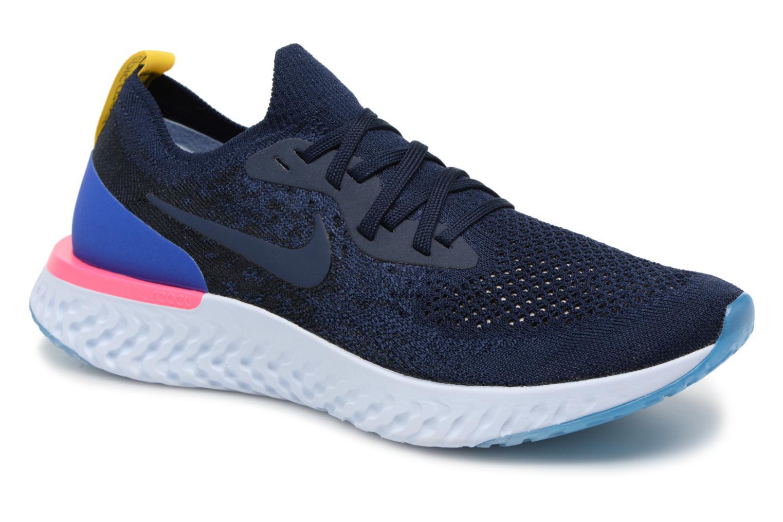 promo code 10f42 c383f ... uk sportssko nike nike epic react flyknit blå detaljeret billede af  skoene 06d29 09e8b