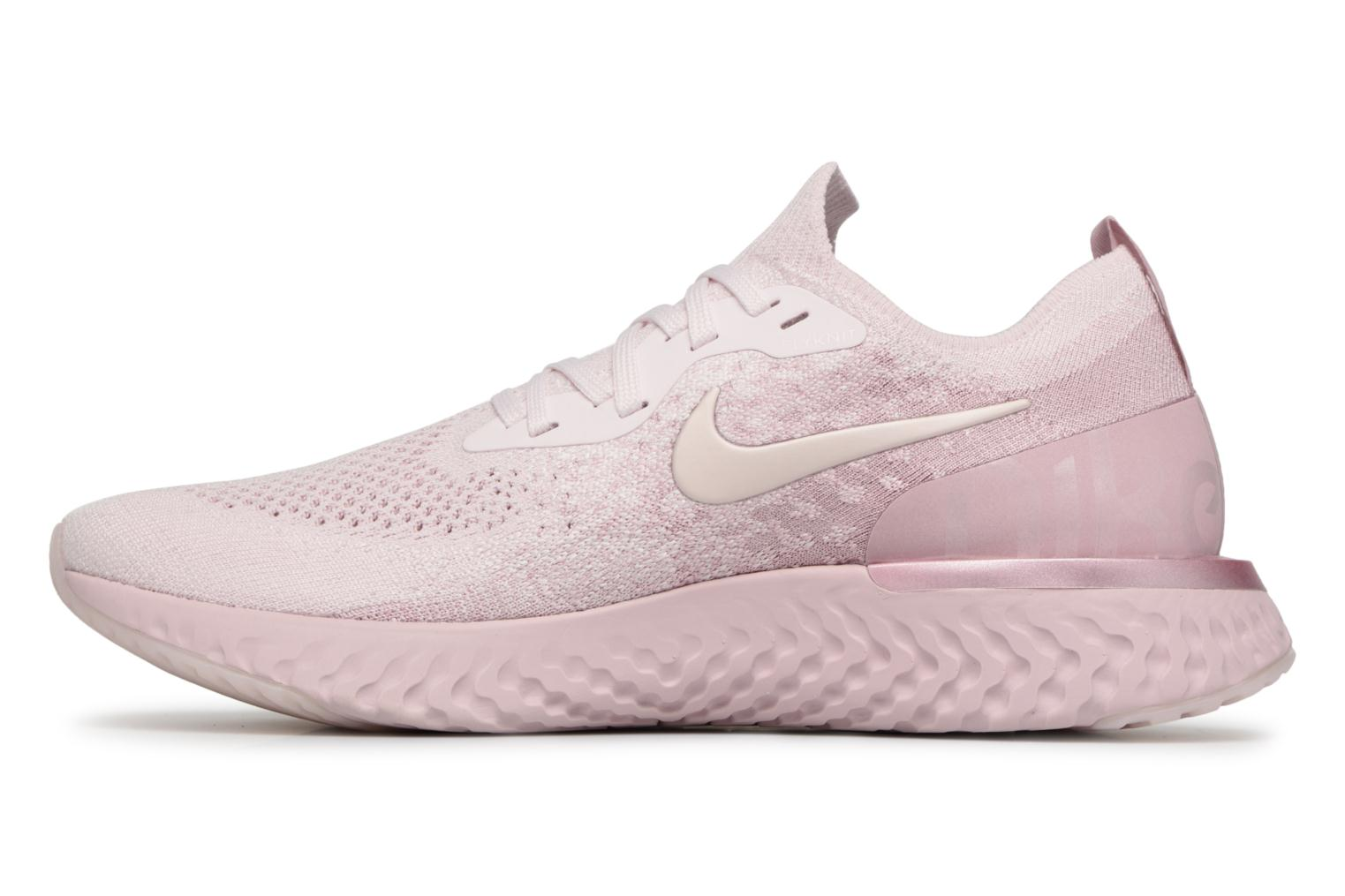 Chaussures de sport Nike Nike Epic React Flyknit Rose vue face