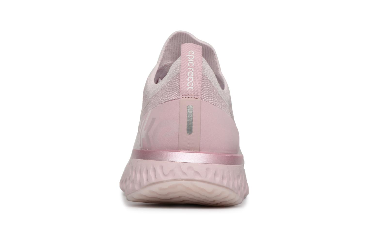 Chaussures de sport Nike Nike Epic React Flyknit Rose vue droite