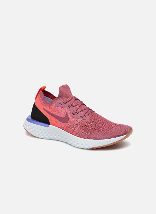 the latest d579d f8f4e Chaussures de sport Nike Wmns Nike Epic React Flyknit Rouge vue détail paire