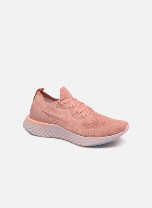 3af21f941d83c Sport shoes Nike Wmns Nike Epic React Flyknit Pink detailed view  Pair view