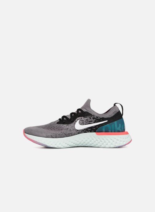 Sportschuhe Nike Wmns Nike Epic React Flyknit grau ansicht von vorne