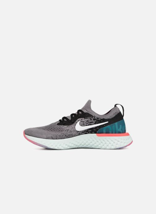 Chaussures de sport Nike Wmns Nike Epic React Flyknit Gris vue face