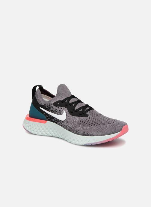 Chaussures de sport Nike Wmns Nike Epic React Flyknit Gris vue détail/paire