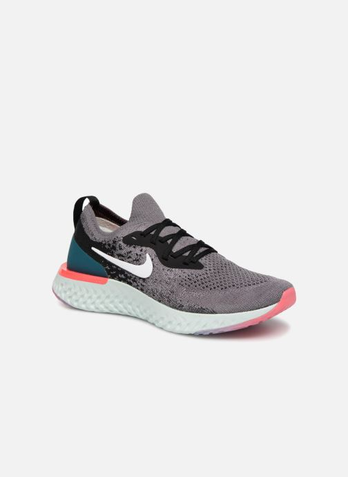 9b4304998b94 Chaussures de sport Nike Wmns Nike Epic React Flyknit Gris vue détail paire