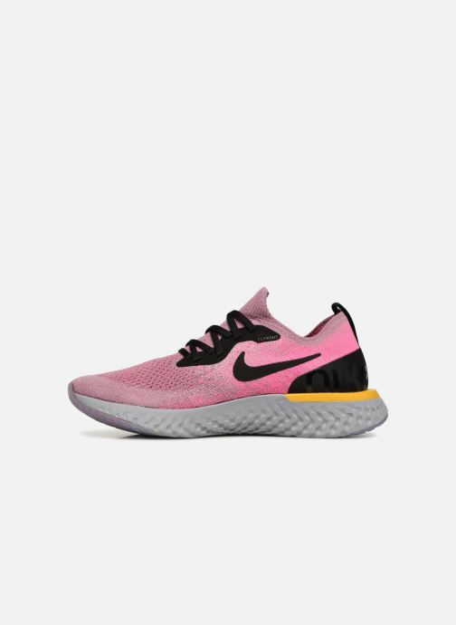 Zapatillas de deporte Nike Wmns Nike Epic React Flyknit Rosa vista de frente